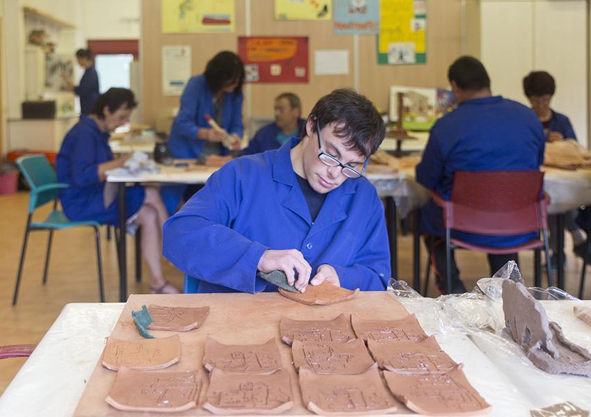 Boltaña Centro Ocupacional Valentia taller cerámica