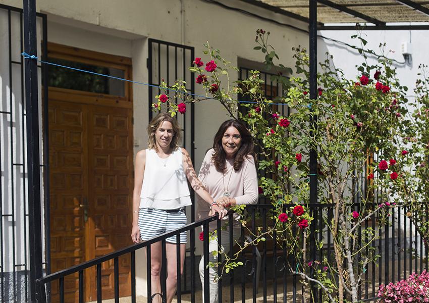 Valentia Jaca Martillué Residencia Ignacio Claver jardín
